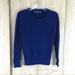 Karen Scott Bright Blue Cable Knit Sweater Size S